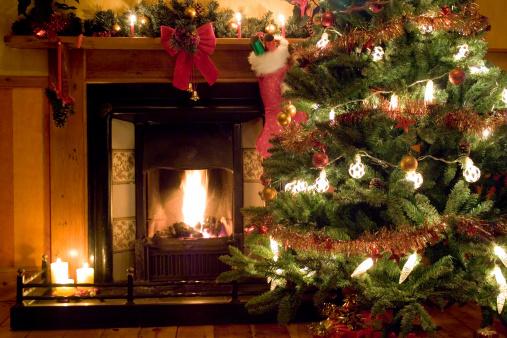 19th Century「Christmas Fireside」:スマホ壁紙(4)