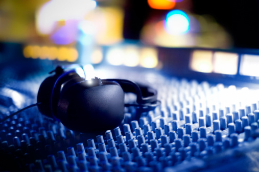 Music Festival「Audio mixing Console and Headphones」:スマホ壁紙(6)