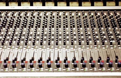 Rock Music「Audio mixing board, close-up」:スマホ壁紙(7)