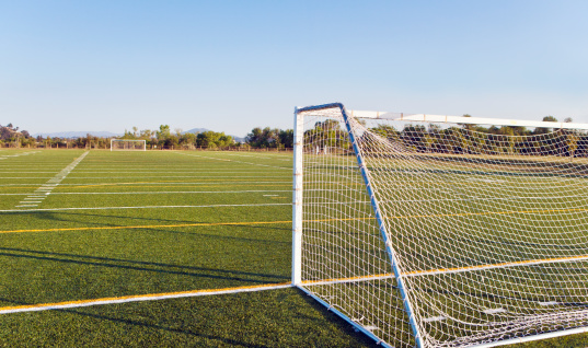 Goal Post「Outdoor soccer field without people at daytime」:スマホ壁紙(6)