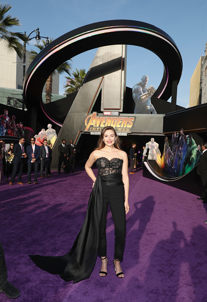 "Elizabeth Olsen「Los Angeles Global Premiere for Marvel Studios' ""Avengers: Infinity War""」:写真・画像(8)[壁紙.com]"