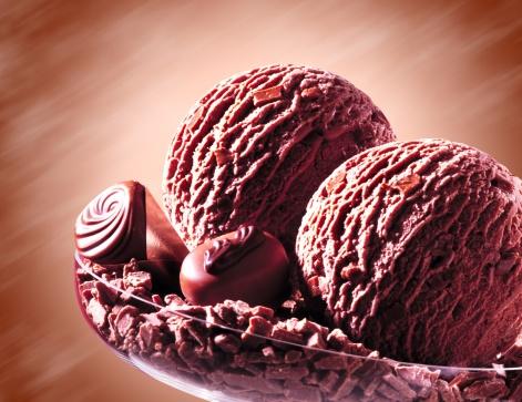 アイスクリーム「Chocolate ice cream, close-up」:スマホ壁紙(3)