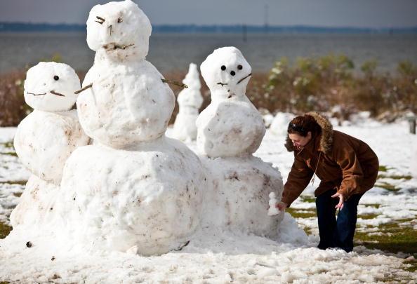 雪だるま「Winter Storm Hits South Carolina」:写真・画像(2)[壁紙.com]
