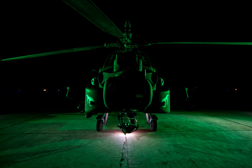 Propeller「An AH-64D Apache Longbow parked at a military base in Tikrit, Iraq.」:スマホ壁紙(4)