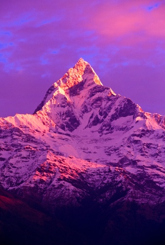 Annapurna Conservation Area「View of Machhapuchhare at sunrise from Sarangkot, Annapurna region, Nepal」:スマホ壁紙(3)