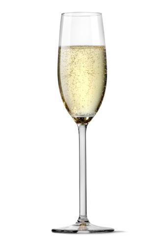 お正月「シャンパンフルートグラスシルエットに白背景」:スマホ壁紙(12)