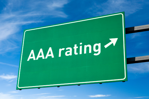 Credit Card「Highway directional sign for AAA credit rating, clipping path」:スマホ壁紙(0)