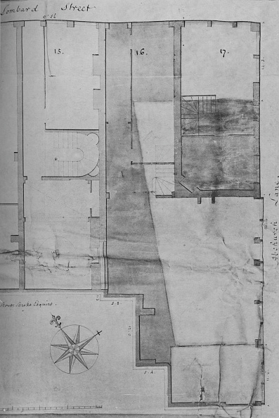 Insurance「Ground Plan Of Lloyds Coffee House No 16 Lombard Street In 1773」:写真・画像(9)[壁紙.com]