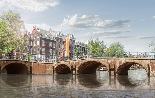 Amsterdam「Amsterdam, bridge over a channel」:スマホ壁紙(3)