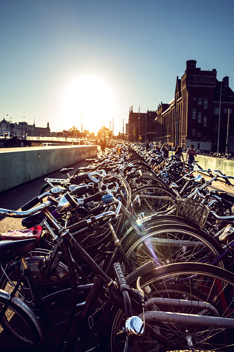 Amsterdam「Amsterdam bicycle parking at Central Railway Station」:スマホ壁紙(3)