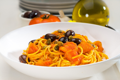Pepper - Seasoning「spaghetti pasta puttanesca」:スマホ壁紙(11)