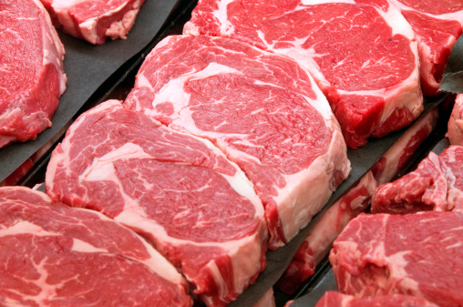 Raw Food「Fresh Ribeye Steaks at the Butcher Shop」:スマホ壁紙(19)