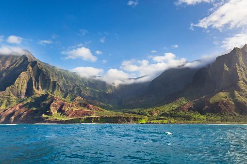 Kalalau Valley「Mysterious Misty Na Pali Coast and Waimea Canyon, Kauai, Hawaii」:スマホ壁紙(6)