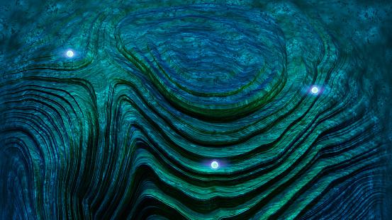 Spacecraft「神秘的な光を舞う球体プレイボーイの風景」:スマホ壁紙(13)