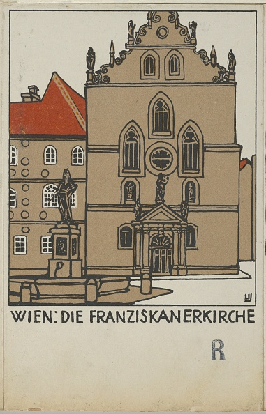 Chromolithograph「Vienna: Franciscan Church (Wien: Die Franziskanerkirche)」:写真・画像(19)[壁紙.com]