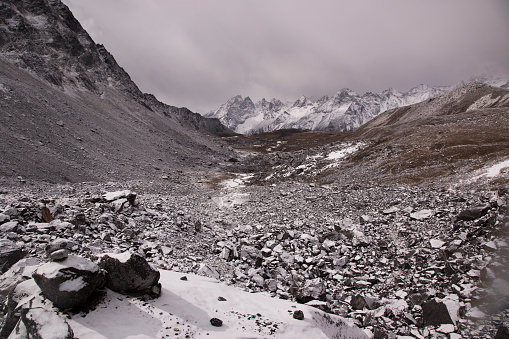 Khumbu「The view to the west from the base of the Cho La Pass, Everest Base Camp via Gokyo Trek, Nepal」:スマホ壁紙(3)