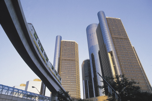 Monorail「Renaissance Center and monorail , Detroit , Michigan」:スマホ壁紙(16)