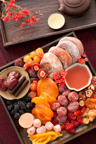 柿「Various Chinese traditional preserved fruits and tea」:スマホ壁紙(9)