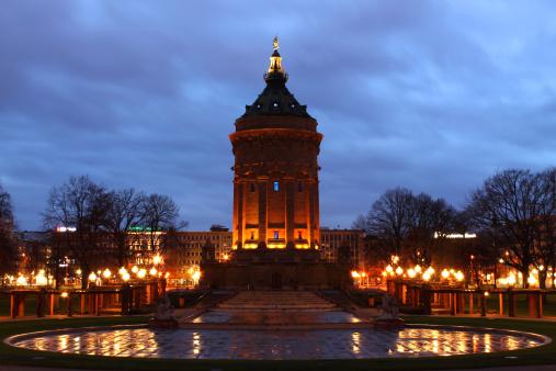 Mannheim「Germany, Mannheim, Water Tower in winter」:スマホ壁紙(8)