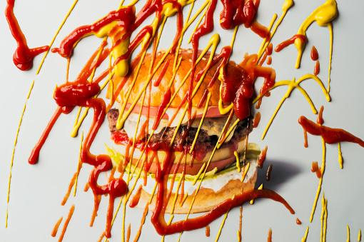 Burger「Hamburger with Ketchup and mustard」:スマホ壁紙(11)