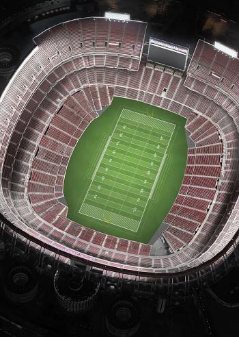 Aerial View「Empty Football Stadium, Aerial View」:スマホ壁紙(7)