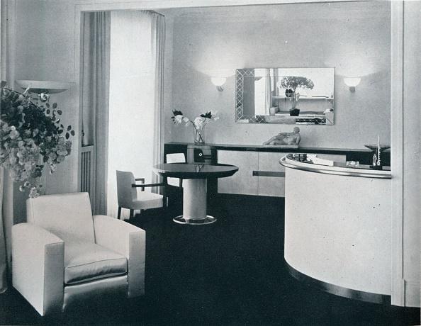 アールデコ「'Bar corner of a dining room designed by Jacques Adnet', c1940. Artist: Unknown.」:写真・画像(7)[壁紙.com]