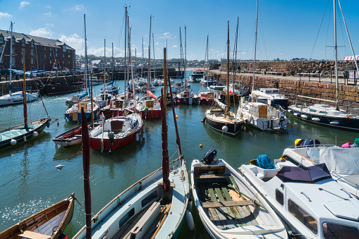 East Lothian「North Berwick harbour, boats, East Lothian,  Scotland,」:スマホ壁紙(19)