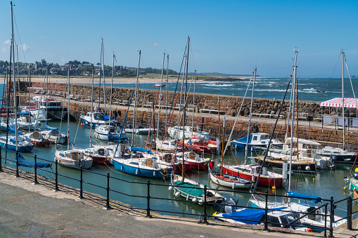 East Lothian「North Berwick harbour, boats, East Lothian,  Scotland,」:スマホ壁紙(18)