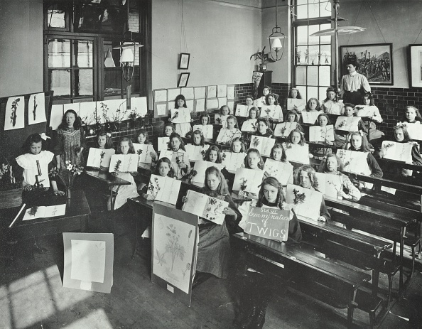 1900-1909「Nature Lesson, Albion Street Girls School, Rotherhithe, London, 1908. Artist: Unknown.」:写真・画像(17)[壁紙.com]
