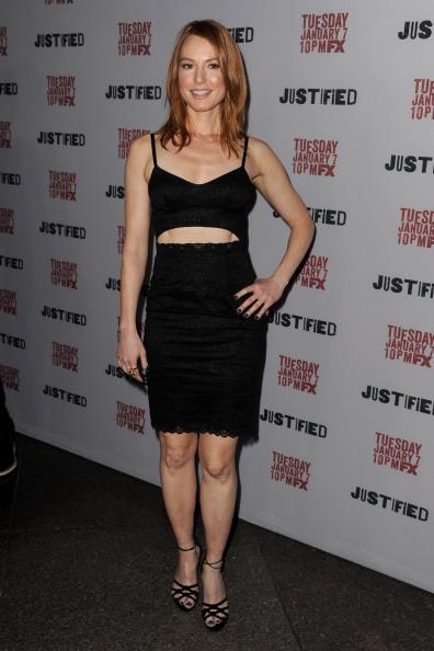 アリシア ウィット「Premiere Screening Of FX's 'Justified' Season 5 - Red Carpet」:写真・画像(6)[壁紙.com]