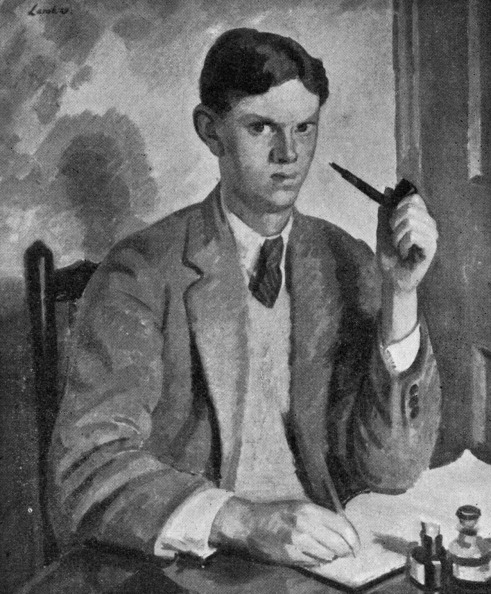 Furniture「Evelyn Waugh - portrait of the British writer sitting at a desk writing, pipe in hand.」:写真・画像(9)[壁紙.com]
