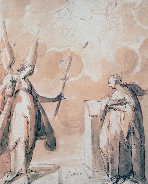 クレヨン「'The Annunciation', c1530-1577. Artist: Hans Speeckaert」:写真・画像(14)[壁紙.com]