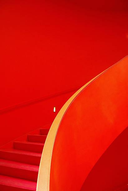 Red Staircase:スマホ壁紙(壁紙.com)