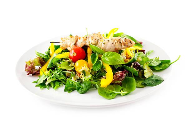 Chicken Kebab with Salad:スマホ壁紙(壁紙.com)