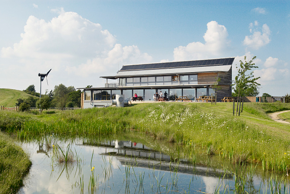 Copy Space「Eco centre and park built near Braintree, Essex, UK」:写真・画像(1)[壁紙.com]