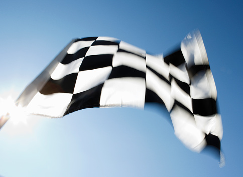 Sports Flag「Checkered flag (blurred motion)」:スマホ壁紙(3)