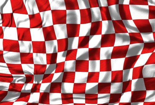 Sports Flag「Checkered Flag (Red/White)」:スマホ壁紙(11)