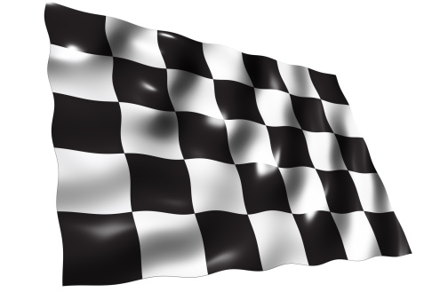 Sports Flag「Checkered Flag, isolated on white background」:スマホ壁紙(6)