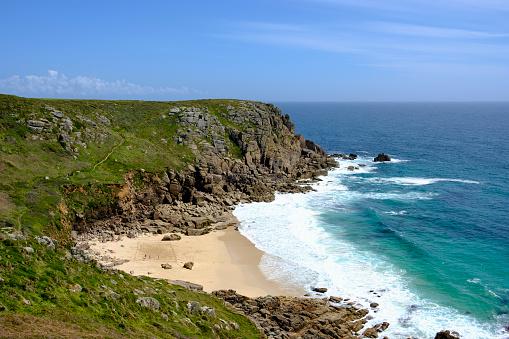 Cornwall - England「UK, Cornwall, Porthchapel Beach near Porthcurno」:スマホ壁紙(3)