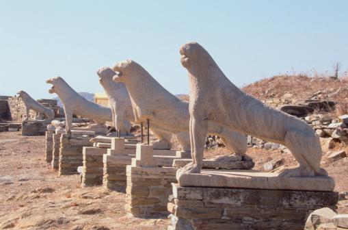 Ancient Civilization「Statues of lions, Terrace of the Lions, Delos, Greece」:スマホ壁紙(12)