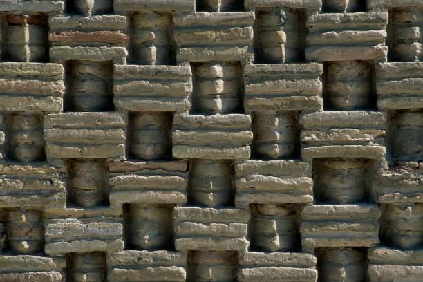 Detail of brick wall of Tomb of Ishmael the Saminid. Bukhara, Uzbekistan.:ニュース(壁紙.com)