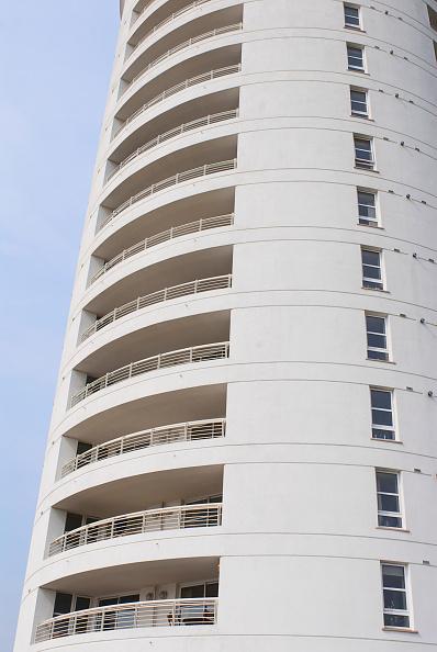Curve「Detail of Barrier Point Apartments, East London, UK」:写真・画像(8)[壁紙.com]