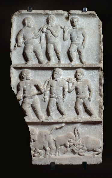 Chain - Object「Marble Relief With 3 Registers: Slaves In Chains And Animals」:写真・画像(3)[壁紙.com]