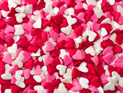 バレンタイン「多くの sprinkle ハート」:スマホ壁紙(8)