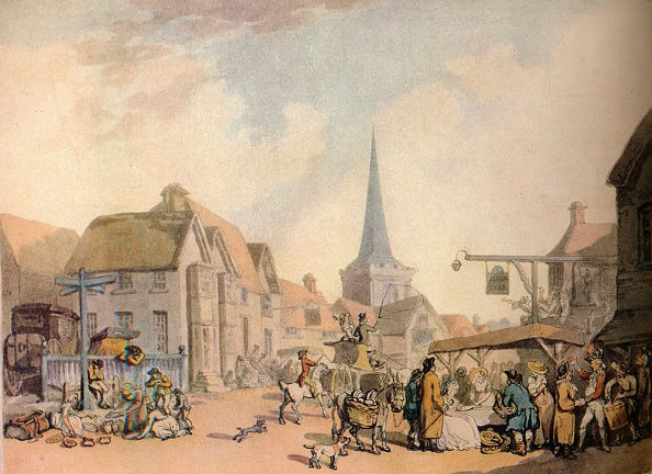 18th Century Style「An Old English Village Scene', c.18Th Century. (1941).」:写真・画像(16)[壁紙.com]