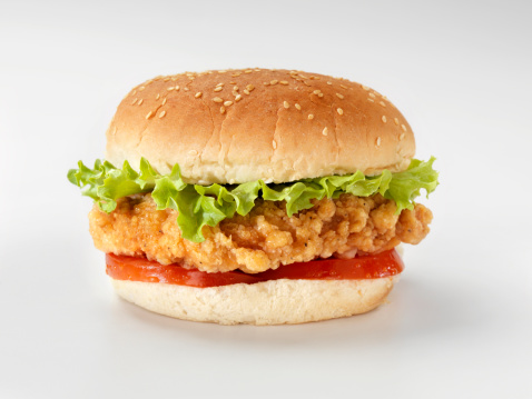 Deep Fried「Crispy Chicken Burger with Lettuce and Tomato」:スマホ壁紙(19)