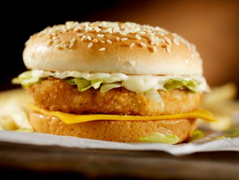 Pub Food「Crispy Chicken Burger」:スマホ壁紙(0)