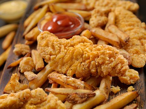 Crunchy「Crispy Chicken Strips with Fries」:スマホ壁紙(16)