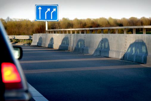 Satisfaction「Shadow of cars on road」:スマホ壁紙(1)