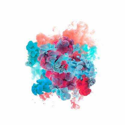 Smoke - Physical Structure「color ink in water」:スマホ壁紙(16)